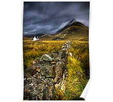 Camasunary Cottage and The Blaven ,Isle of Skye, Scotland. Poster
