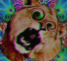 Psychedelic Lion by lamathojo