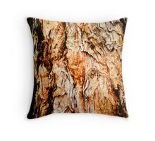 Paper bark abstract in red Throw Pillow