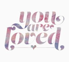You Are Loved Pastel Watercolors Kids Tee