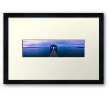 Crawley Boat Shed Framed Print