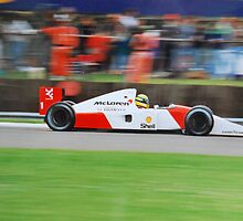 Ayrton Senna - The Master at work.  by Phil Mitchell