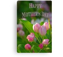 Mothers Day Spring Flowers Canvas Print