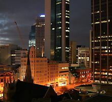 Perth CBD at Night by Vivek Bakshi
