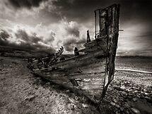 Old Fishing Boat, Talmine, Sutherland, Scotland by Martina Cross