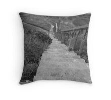 Alcatraz Steps Throw Pillow
