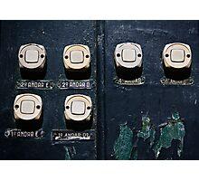 Doorbells, Lisbon, Portugal Photographic Print