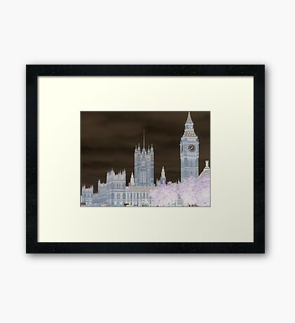 Big Ben and the House's of Parliamenrt. Framed Print