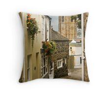 St Ives Cobbled Street Throw Pillow