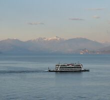 LAKE MAGGIORE AT DUSK by Marilyn Grimble