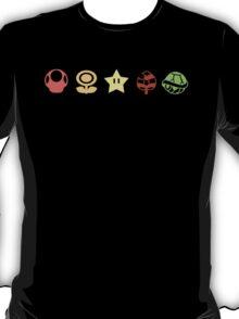 Coloured mario items  T-Shirt
