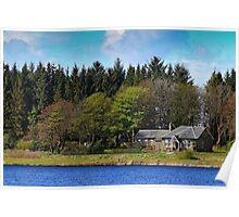 Country Landscape with Cottage Poster