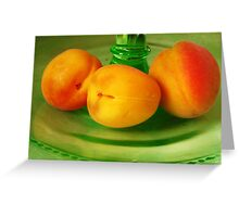 Still life with Apricots Greeting Card