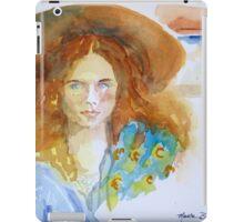 Girl in the Straw Hat iPad Case/Skin