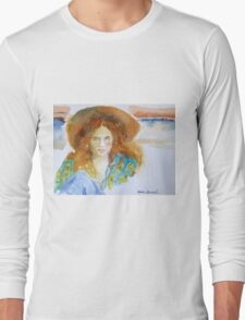 Girl in the Straw Hat Long Sleeve T-Shirt