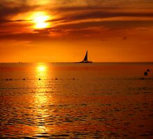 Jamaican Sunset Boat 1 by greg1701