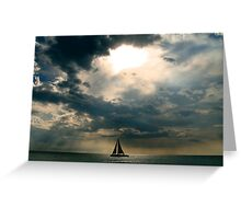 Jamaican Sunset Boat 2 Greeting Card