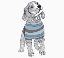 Blue Beagles One Piece - Short Sleeve