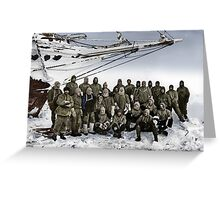 Shackleton and members of the Endurance expedition 1914. Greeting Card