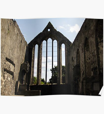 Ennis Friary window Poster