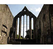 Ennis Friary window Photographic Print