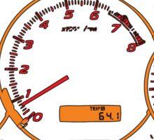 Subaru impreza gauges Sticker