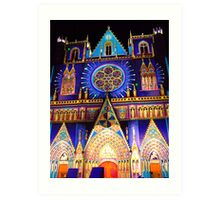 facade of the cathedral st jean in Lyon Art Print