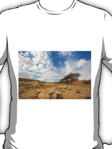Enduring Acacia tree survives in the Desert T-Shirt