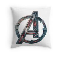 The Avengers-Age of Ultron Logo Throw Pillow