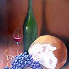 Wine, Bread, Grapes by sally seabright