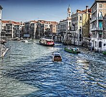 North from the Rialto Bridge by Tom Gomez