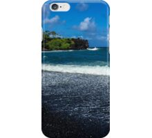 Maui's Black Sand beach iPhone Case/Skin