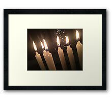 Candles and Christmans Trees Framed Print