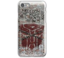 'Freedom' with background iPhone Case/Skin