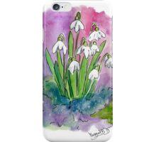 """Little snowdrops"" iPhone Case/Skin"