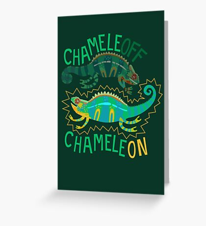 Chameleoff, Chameleon Greeting Card