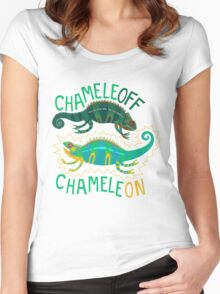 Chameleoff, Chameleon Women's Fitted Scoop T-Shirt
