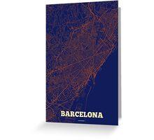Barcelona Streets Map Greeting Card