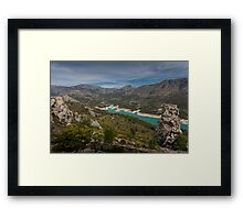 Guadalest valley Costa Blanca Spain  Framed Print