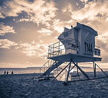 Lifeguard Shack Maui Hawaii by Edward Fielding