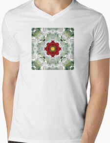 Kaleidoscope Tulips Mens V-Neck T-Shirt