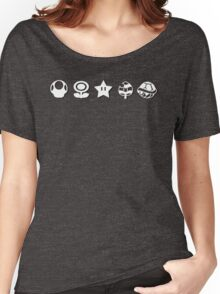 White mario items (with shadow) Women's Relaxed Fit T-Shirt