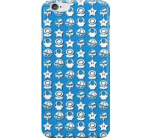 White mario items (with shadow) iPhone Case/Skin