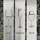Wine Glasses, stainless steel wall art by LisaSarah by lisaSarah