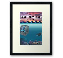 Save the Whales Framed Print