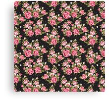 Shabby Chic Pink And White Roses Canvas Print