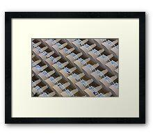 Symmetrical hotel balconies Framed Print