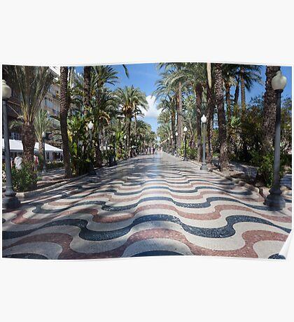 Alicante wavy pavement Poster