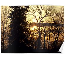 Quebec Canada Beautiful Sunset  Poster