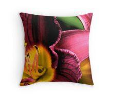 Magenta & Yellow Lily Throw Pillow